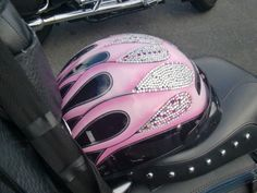 One day I will have a blinged helmet!