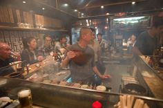 Yakitori bar in Tokyo. Beer and grilled meat, what's not to like?