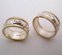Hand Made Recycled 18k gold and silver Wedding by WatertonJewelry, $975.00