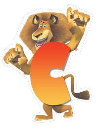madagascar letter C Madagascar 2, Penguins Of Madagascar, Safari Crafts, Jungle Crafts, Childrens Alphabet, Cute Alphabet, Lion Clipart, Fall Carnival, Banner Letters