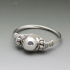 Sterling Silver Bali Wire Wrapped Ring ANY size