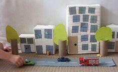 Recycled Cardboard Box City