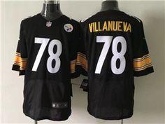 f675062124f Pittsburgh Steelers  78 Alejandro Villanueva Black Elite Jersey