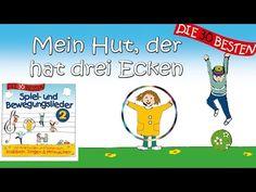 Mein Hut, der hat drei Ecken - Die besten Spiel- und Bewegungslieder || Kinderlieder - YouTube