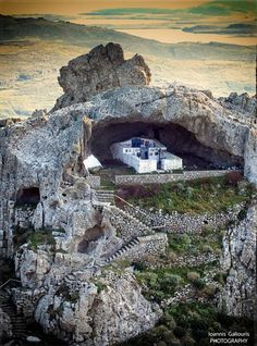 Panagia Kakaviotissa church in Lemnos. A church without a roof ...
