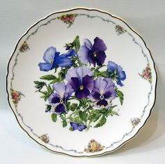Royal Albert Plate Pansies