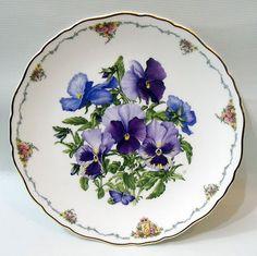 Royal Albert Plate Pansies