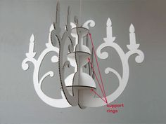 Cardboard Chandeliers - complex, but could be simplified & made much smaller for a kids' activity