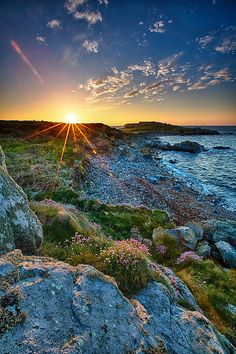 Sunset at Fort Le Marchant - Guernsey, England Channel Islands Uk, Guernsey Channel Islands, Guernsey Island, Beautiful Islands, Beautiful World, Nature Pictures, Beautiful Pictures, Nature Photography, Travel Photography