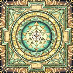 Sri Yantra Digital Art - Sri Yantra 3 by Sampad Art Sri Yantra, Mantra, Stock Imagery, Spiritual Images, Sacred Symbols, Sacred Art, Universe Art, Canvas Prints, Art Prints