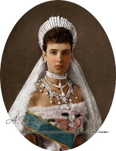 Empress Maria Fyodorovna Romanova of Russia, consort of Tsar Alexander III., mother of Nicholas II.