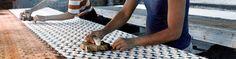 Handblock printing in Rajasthan, India to make beautiful Leah Singh products