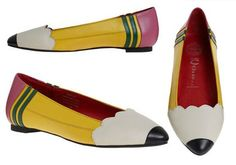 Pencil shoes from modcloth » As a girl that spends a lot of time around pencils these might be perfect for me!