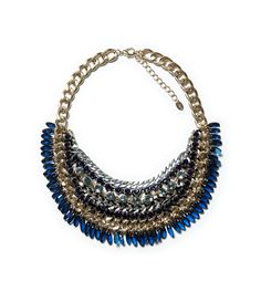 ZARA - WOMAN - GEMSTONE AND CHAINS NECKLACE