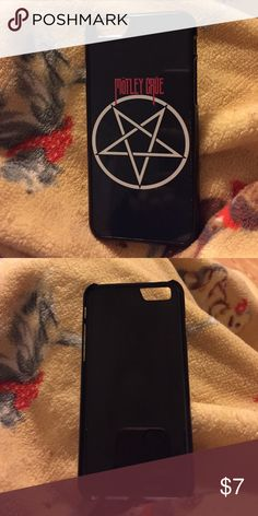 Motley Crüe Iphone 6/6s case Black iPhone case for the 6 or 6s, no cracks or chips or fading of paint. This was my husbands and he upgraded his phone to a 7 so this no longer fits Accessories Phone Cases