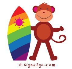 Surfing tees and gifts by d-signs2go. Check out or selection of monkey designs in t-shirts and gifts: http://www.d-monkeyshop.com/monkey-surfing-tees-for-the-entire-family/