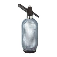 Lovin Silver Glass Mesh Soda Siphon Glass with silver mesh exterior Rubber bottom to protect your furniture Works with standard 8 gram cartridges (not included) Perfect for bar or home kitchen Manufacturer's one year warranty Best Soda, Regency House, Bar Tools, Water Bottle, Mesh, Silver, Exterior, Theme Parties, Retro Style