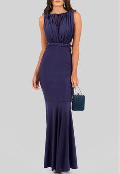 POWERLOOK - Aluguel de Vestidos Online -  Vestido Lauren longo de malha com recorte na cintura Maddie - azul #lauren #vestidolongo #longo #vestidodemalha #maddie #vestidoazul #recortenacintura #azul #trança  #alugueldevestidos #powerlook #vestidomadrinha #madrinha #vestidocasamento #casamento #vestidofesta #festa  #lookcasamento #lookmadrinha #lookfesta #party #glamour #euvoudepowerlook  #dress   #noite