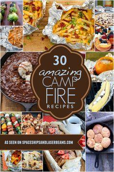 30 Amazing Campfire Recipes via @spaceshipslb