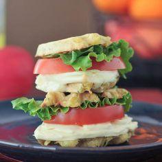 grilled cheese wafflewich sliders via @spabettie
