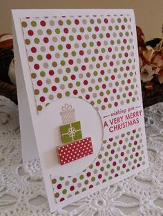 Hi everyone      I have seen a lot of cards made late where they have used the large circle punch to punch part of the Designer Series Pape...