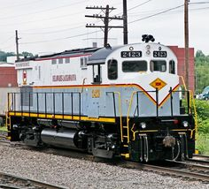 Delaware Lackawanna Railroad, Alco C425 diesel locomotive in Scranton, Pennsylvania, USA