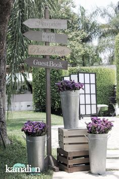 www.kamalion.com.mx - Decoración / Vintage / Rustic / Gray & Purple / Gris & Lila / Letreros / Decor / Signs / Wedding / Boda.