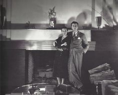 The couple of the 30's Mexican Actress Dolores del Rio and MGM's art director Cedric Gibbon ( one of the original Academy Award members). In 1928 Del Rio convinced Mexican actor Emilio Fernandez to model for her husband to sculpt what would be known as the Oscar. Both are posing in their At Deco house in Los Angeles.