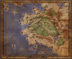 Mapa - Pillars of Eternity Fantasy World Map, Fantasy Places, Obsidian Entertainment, Imaginary Maps, Pillars Of Eternity, Hollow Earth, Map Icons, Video Game Collection, Video Game Reviews