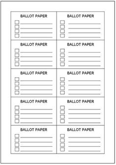 Fan image with regard to printable voting ballot template