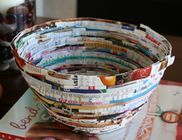 Recycled Magazine Bowl.