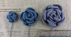 【簡易編み図付き】でっかい巻き薔薇♪ : あみあみふれんず