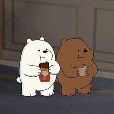 Polar y Pardo Ice Bear We Bare Bears, We Bear, Cute Disney Wallpaper, Cute Cartoon Wallpapers, We Bare Bears Wallpapers, Bear Wallpaper, Cartoon Profile Pictures, Dibujos Cute, Cartoon Icons