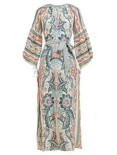 Chic D'Ascoli Georgina floral-printed cotton-voile maxi dress Womens Dresses from top store Beach Wear Dresses, Modest Outfits, Printed Cotton, Wrap Dress, Floral Prints, Fashion Dresses, Women Wear, Clothes For Women, How To Wear