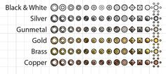 Over 425 Vector Garment Accessories $24.95 - Grommets, Studs, Rivets, Pyramid Studs