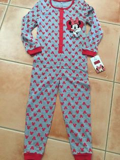 dd6a1745e2 Minnie Mouse Disney Pjs Sleepwear One Piece Girl Size 3- 4Year Brand New