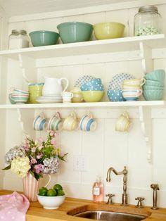 Such a happy looking kitchen shelf