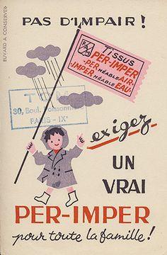 vintage raincoat ad – Buvard