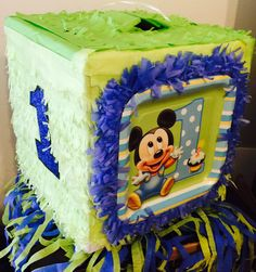 1st Birthday Baby Mickey Block Piñata