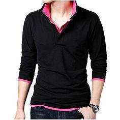 Minibee Men's V-Neck Long Sleeves Layer Fake Two Pieces T-shirt Red XL Minibee http://www.amazon.com/dp/B00T944QL2/ref=cm_sw_r_pi_dp_8Ozqvb048GT74