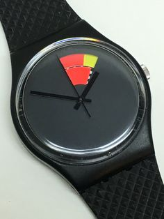 A personal favorite from my Etsy shop https://www.etsy.com/listing/466195663/vintage-swatch-watch-color-window-gb715