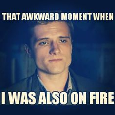 "The Hunger Games. Peeta Mellark, the boy with the bread, ""baker boy,"" but never ""Boy on Fire"""