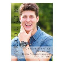 Male-Themed Graduation Announcement