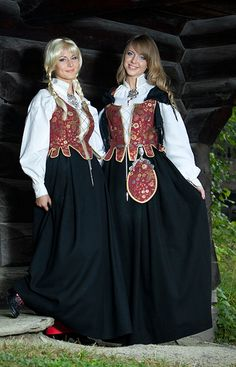 Norwegian Folk Costume (Bunad) from Solør-Odal. I have this in a different color combination. Love it!