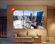 Calgary canvas art prints large wall art black white canvas print Calgary, Alberta, Canada City Cityscape skyline City Office Decor