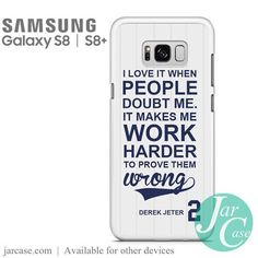 Derek Jeter 2 Quote Phone Case for Samsung Galaxy S8 & S8 Plus