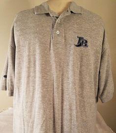 Nike Dri-Fit Size XL Mens Tampa Bay Baseball Gray Short Sleeve Polo Shirt #Nike #TampaBayRays