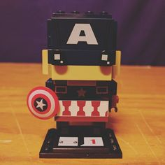 My first Brick Headz. I love it but the ears are weird. #lego #brickheadz #afol #bricktease #captainamerica #marvel #brick #bricks LEGO