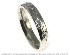 Wedding Band Engraved Patterns | Palladium engraved wedding ring inspired by a vine of ivy ~ Harriet ...