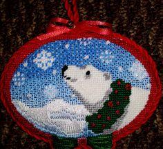 needlepoint polar bear ornament | NEEDLEPOINT LAND